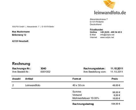 Bestellung Auf Rechnung by Fotoleinwand Auf Rechnung Kaufen Leinwandfoto De