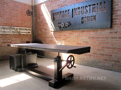 hand crank adjustable height desk french industrial adjustable height desk gentlemint
