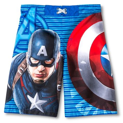Captain America Blue Swimsuit captain america boys swim trunks academy blue target