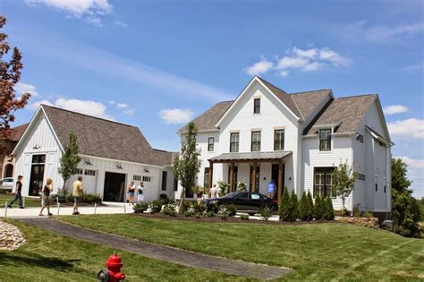 Farmhouse With Attached Garage by The Hydrangea Parade Of Homes Week 2014 House 3