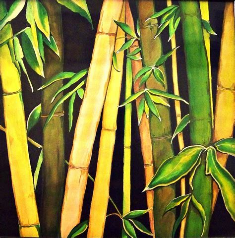 bamboo leaves painting by sharma