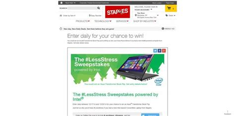 Staples Sweepstakes - staples lessstress sweepstakes win an asus transformer book flip