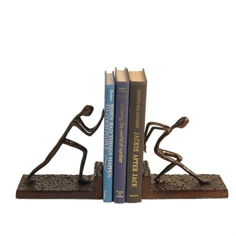 buy bookends buy men pushing metal bookend set by danya b at