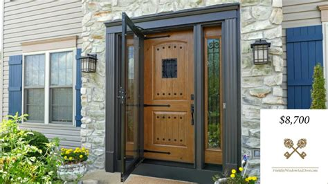 how much does a front door cost how much does an entry door cost