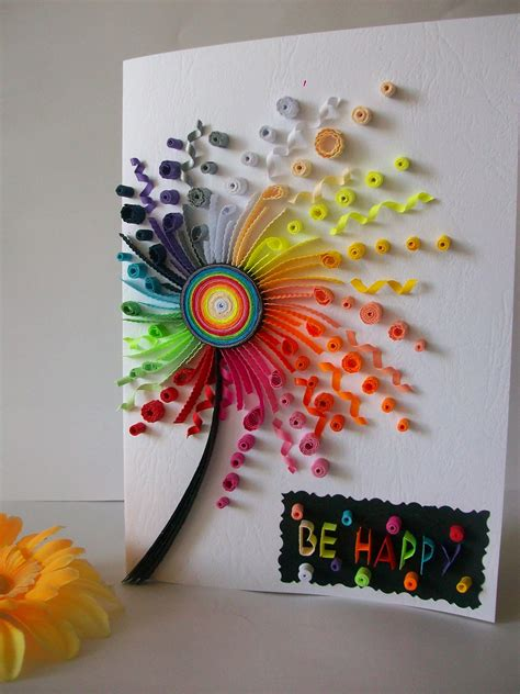 paper for card birthday card quilling card quilled birthday card paper