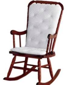 Wooden Rocking Chair Cushion Set Wooden Rocking Chair With Cushion Myideasbedroom