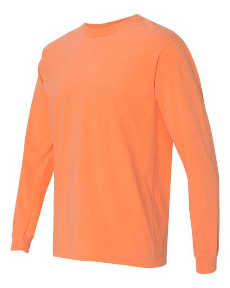 comfort colors long sleeve shirts comfort colors garment dyed heavyweight ringspun long