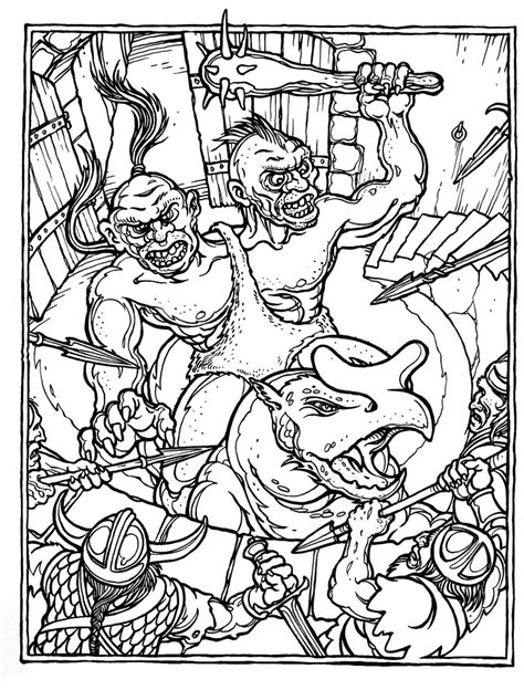 advanced coloring pages dragons monster brains the official advanced dungeons and dragons