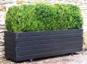 garden planters large wooden trough planters 1 8m