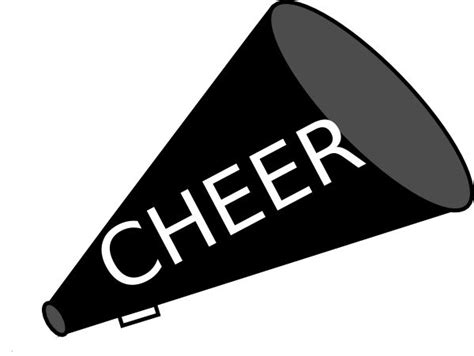 cheerleading clipart cheer graphics black clipart