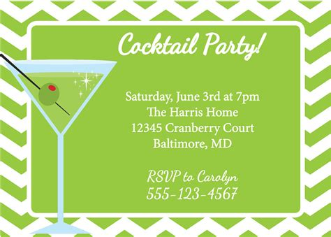 free templates for cocktail invitations martini invitation cocktail party diy printable by