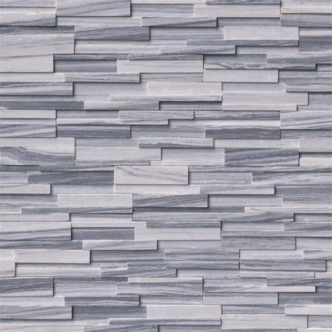 Alaska Grey 3D Honed Ledger/Stacked Stone Panels ? Sognare