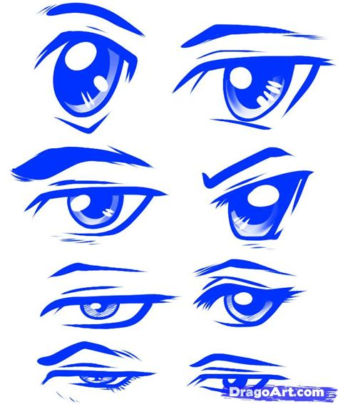anime eyes male step 11 how to draw anime male eyes