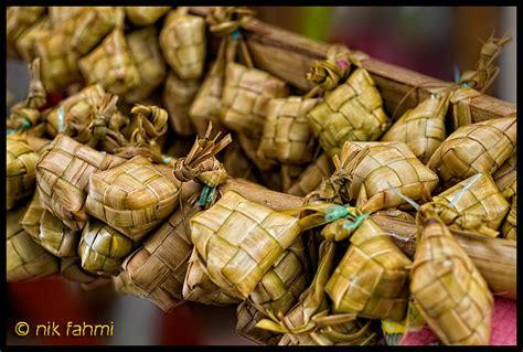 ketupat nasi selamat menyambut hari raya aidil fitri