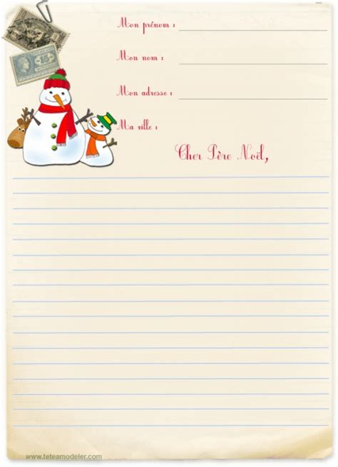 Exemple Lettre Pere Noel Imprimer Modele A Imprimer Lettre Au Pere Noel
