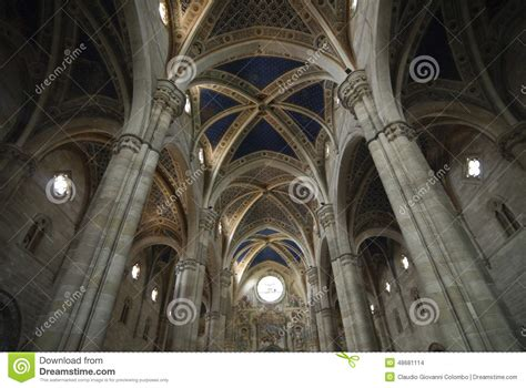 certosa di pavia italy certosa di pavia italy church interior stock photo