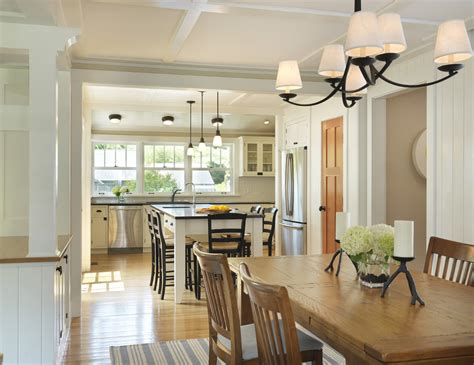 Kitchen Island With Seating Dining Room Farmhouse With Black Kitchen Chandelier