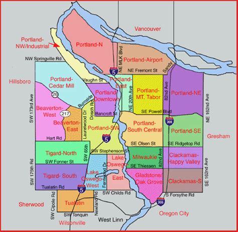 portland neighborhood map portland oregon neighborhoods