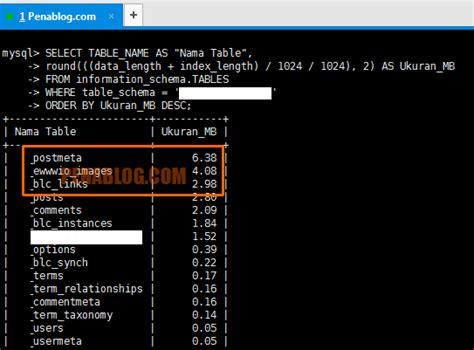 membuat database mysql di ubuntu cara cek ukuran database wordpress mysql di vps ubuntu