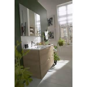 indogate meuble salle de bain bois clair