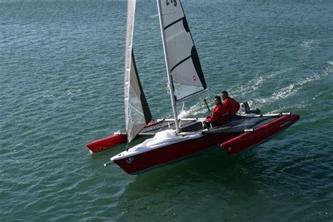 catamaran dory hull trimaran boat design wooden trimaran pascalwilliam b jpg
