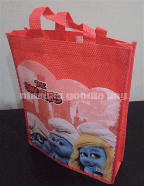 Tas Jinijng Goodie Bag Ulang Tahunultah Anak Banner 1 tas ultah kulit jeruk smurf goodie bag ultah anak