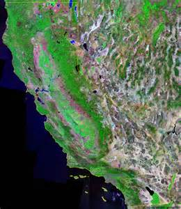 california satellite map california map