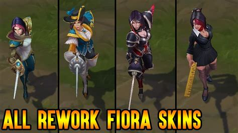 skins all 4 all fiora skins after rework youtube