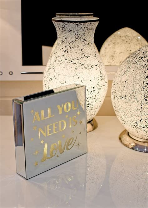 all you need is light up mirrored plaque