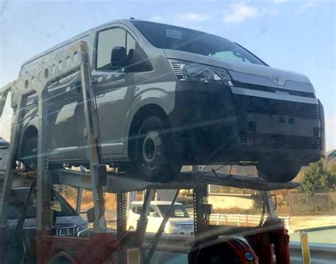 Toyota Mpv 2020 by 2020 Toyota Hiace Mpv Spied Undisguised Before Launch