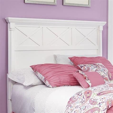 white wood headboard full ashley kaslyn wood full panel headboard in white b502 87