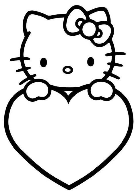 hello kitty with flowers coloring pages kitty kleurplaat kleuters kleurplaten verjaardag