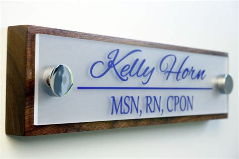 Office Name Plates by Office Door Name Plate Personalized Office Accessories And