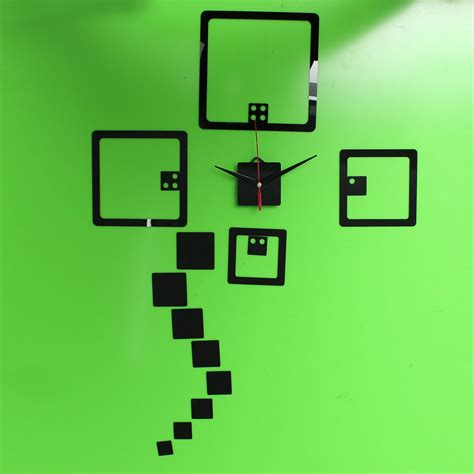 Wall Sticker Home 2 2 colors diy wall decal clock wall stickers acrylic