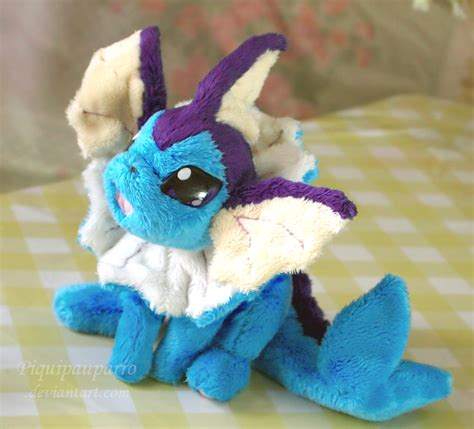 Handmade Plush - vaporeon handmade plush by piquipauparro on deviantart