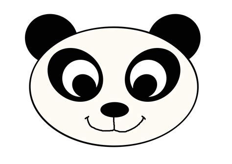 printable panda mask template animal mask izar lovers come in