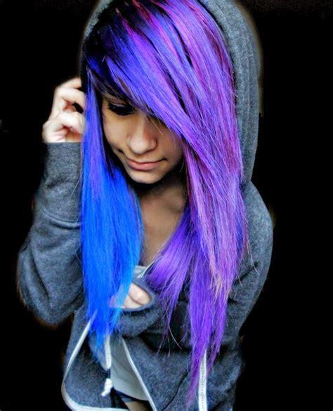 girl hairstyles purple cute scene girl with purple hair www pixshark com