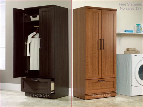 clothing armoire tall cabinet cupboard storage organizer wardrobe laundry