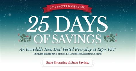 Tackle Warehouse Gift Card - tackle warehouse all 25 days of savings revealed 10 off gift cards ends soon