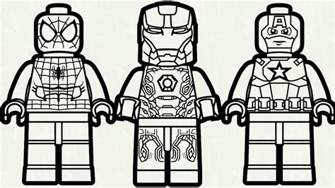 coloring pages lego captain america captain america coloring pages lego photo spiderman and