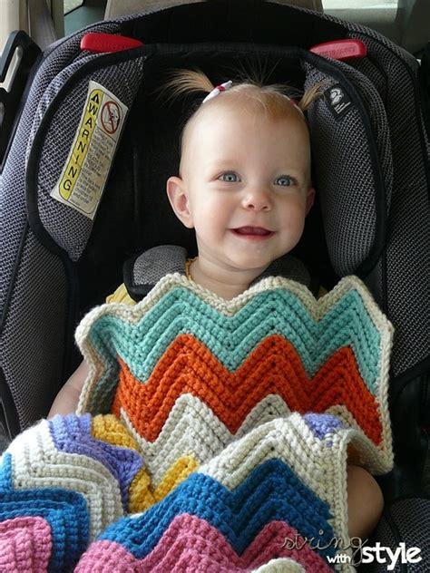 baby car seat blanket crochet pattern chevron baby blanket for car seat free crochet pattern
