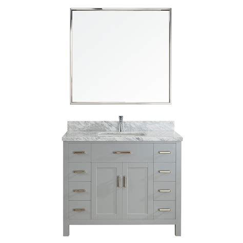Bathroom Vanities Solid Wood Construction Kent 42 Inch Oxford Gray Finish Bathroom Vanity Solid Hardwood Construction