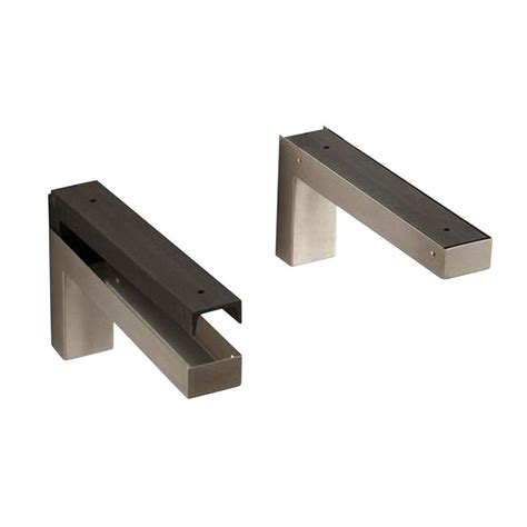 Kitchen Sink Brackets Kohler Vessel Sink Wall Mounted Bracket In Stainless Steel K 9583 Na The Home Depot