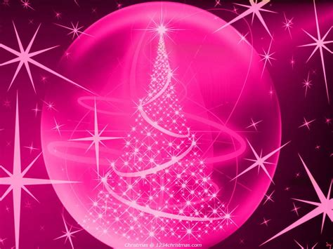 wallpaper christmas pink 75 christmas tree wallpapers for free download