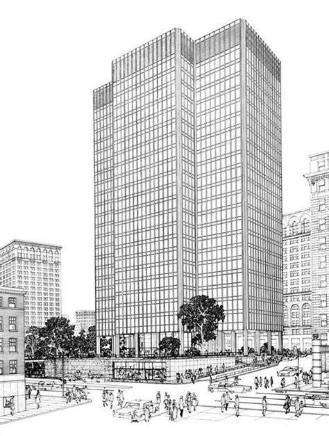 Mies Der Rohe Baltimore by Ludwig Mies Der Rohe One Charles Center Rendering