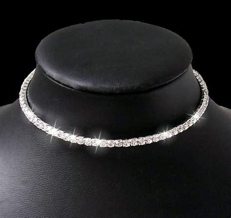 Hochzeitsschmuck Collier by Collier Kette Ohrringe Armband Strass Set