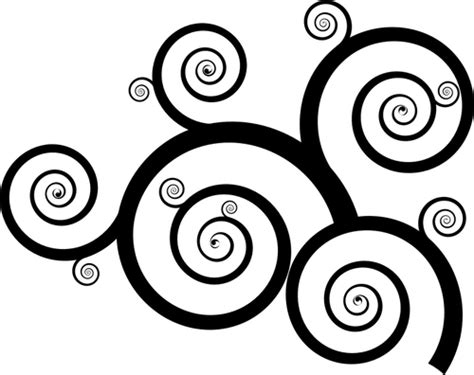 wavy pattern png downward spiral clipart