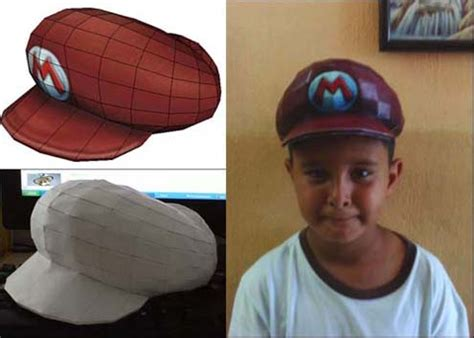 Papercraft Hat - mario cap papercraft isn t for noobs infendo nintendo