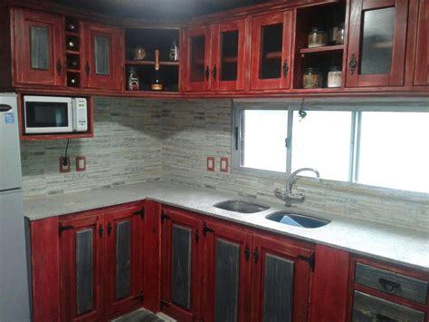 mueble bajo mesada  cocina  barbacoa en madera rustica  en mercado libre