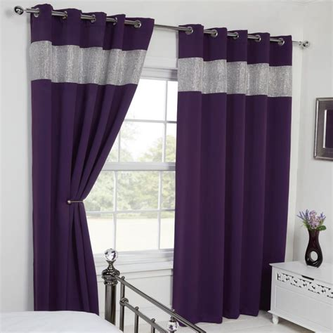 amethyst curtains carla diamante eyelet blackout curtains tonys